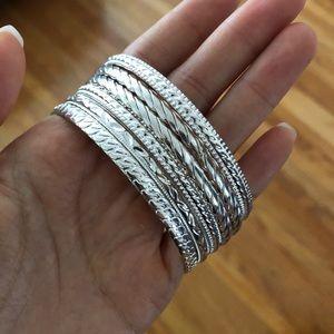 Silver Bangles (6)